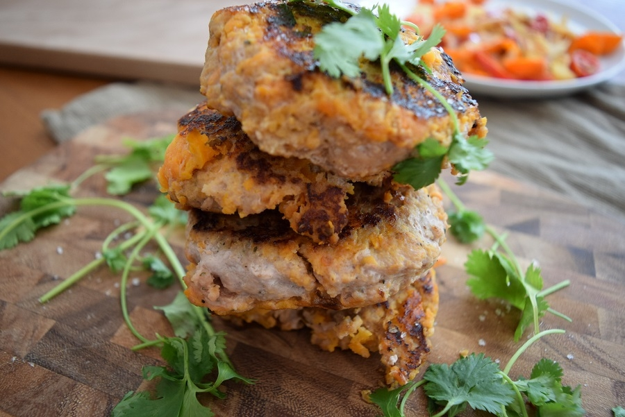 These easy Sweet Potato Turkey Burgers are a great alternative for beef burgers, boasting more fiber and lower fat and ready in 30 minutes
