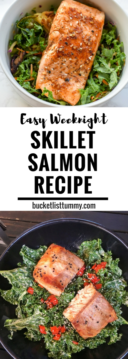 Think fish is too tough to cook? Think again! This Weeknight Salmon Recipe is ready in under 10 minutes!